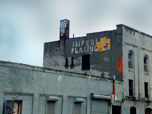 Imperial Plating Co. Ghost Sign in Brooklyn